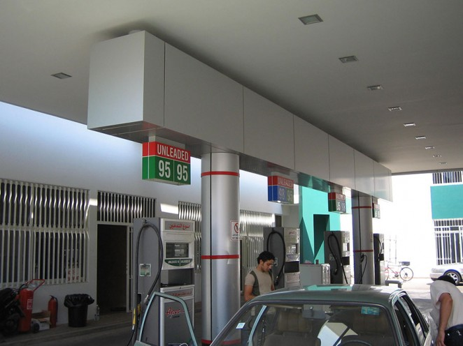 ACP ALUCOBOND FIRE RESISTANT GAS STATION